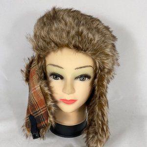 Scala Pronto Trapper Aviator Hat Faux Fur
